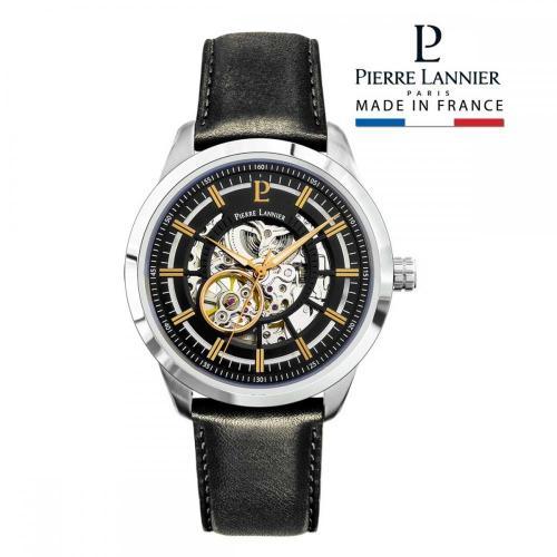 ピエールラニエ オートマティック メンズ腕時計 機械式 レザーウォッチ