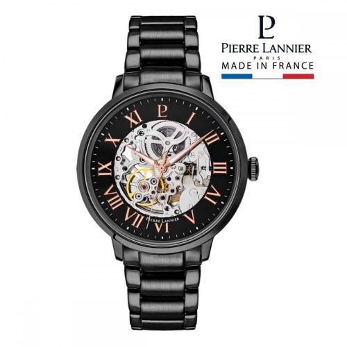 ピエールラニエ オートマティック メンズ腕時計 メタルベルトウォッチ ブラック
