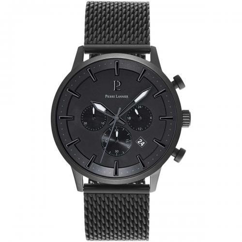 ピエールラニエ クロノグラフ メンズ腕時計 メッシュベルトウォッチ
